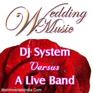 Wedding Music DJ System Versus A Live Band