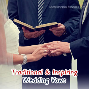 Traditional & Inspiring Wedding Vows