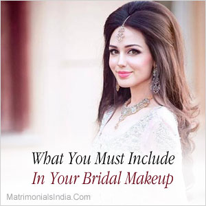 What You Must Include In Your Bridal Makeup