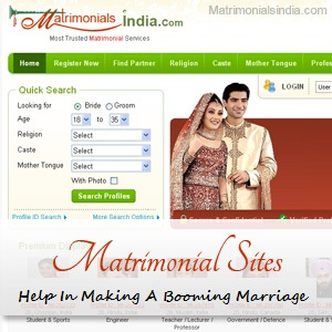 The Matrimonial Sites Help In Making A Booming Marriage